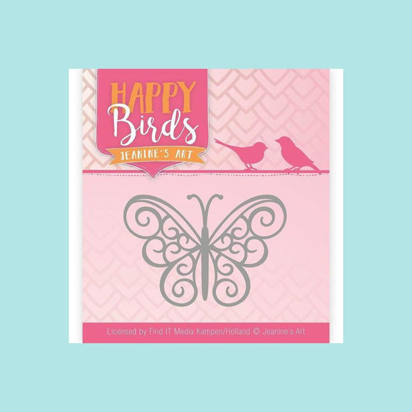 Couture Creations - Die - Jeanine's Art - Happy Birds - Happy Butterfly