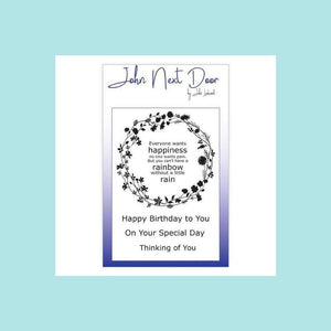 John Next Door - Clear Stamp - Flower Circle
