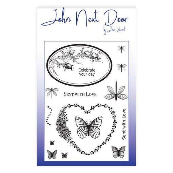 John Next Door - Clear Stamp - Butterfly Frames (14 pcs)