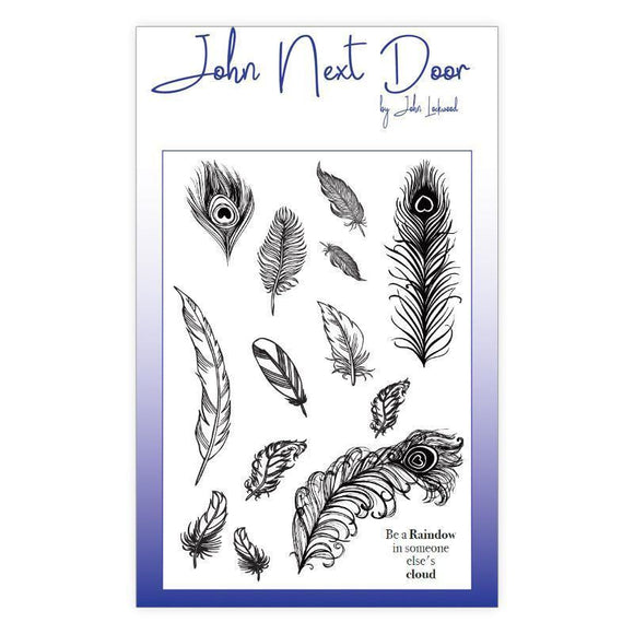 John Next Door - Clear Stamp - Feathers
