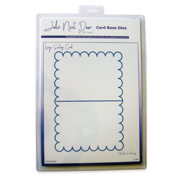 John Next Door - Card Base Dies - Large Scallop Card
