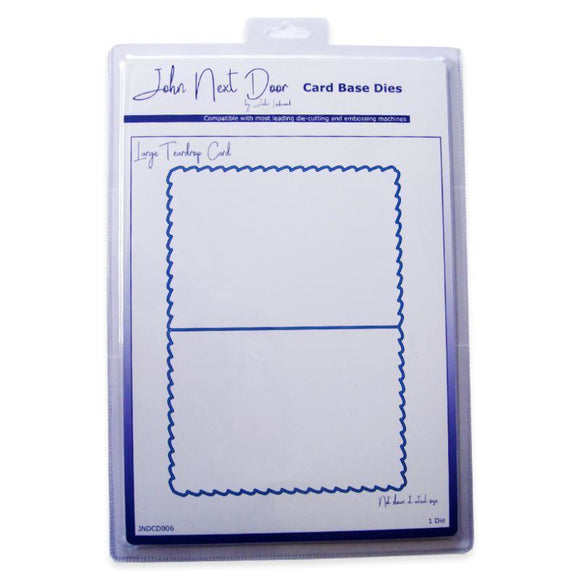 John Next Door - Card Base Dies - Large Teardrop Card