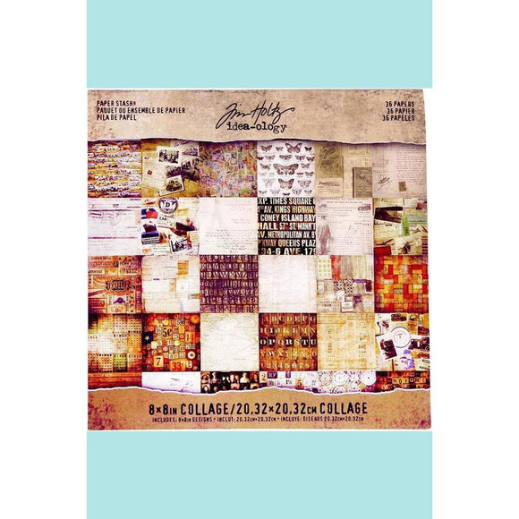 Tim Holtz Mini Paper Stash Collage
