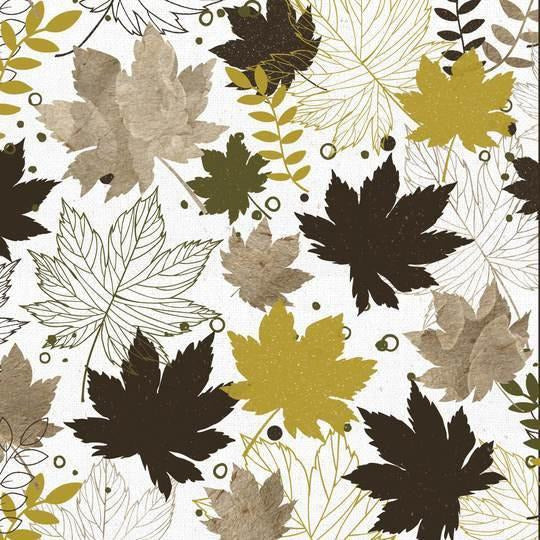 KaiserCraft - Fallen Leaves Scrapbook Paper - Crunchy Leaves
