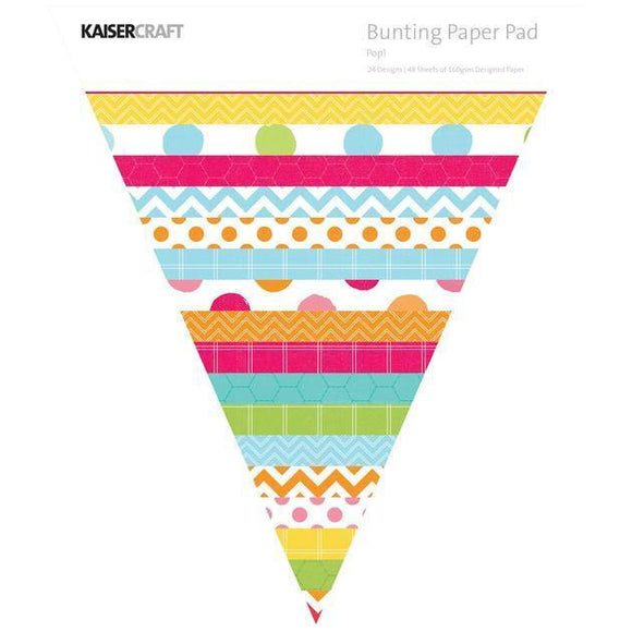 Kaisercraft - Triangle Paper Pad - POP! Bunting