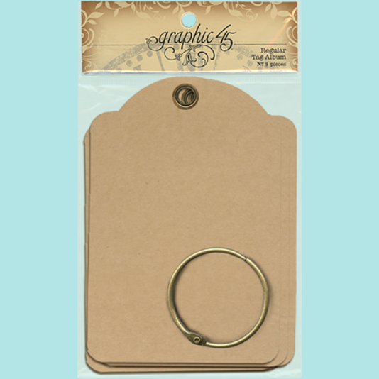 Graphic 45 - Regular Tags - Kraft