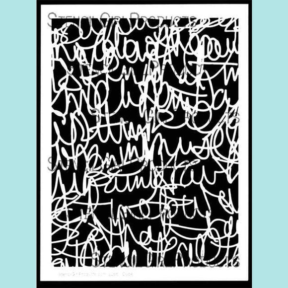 StencilGirl - Scribble Scratch Handwriting Stencil