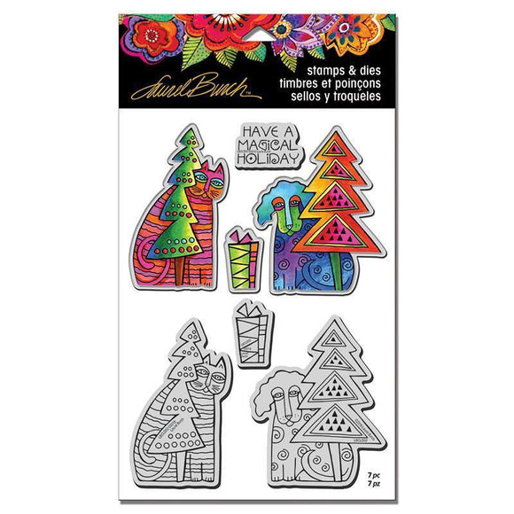 Stampendous - Laurel Burch Holiday Friends Stamp and Die