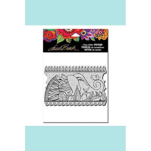 Stampendous - Laurel Burch Rainbow Safari Rubber Stamp