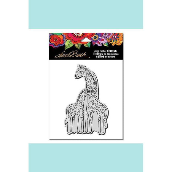 Stampendous -  Laurel Burch Giraffes Rubber Stamp
