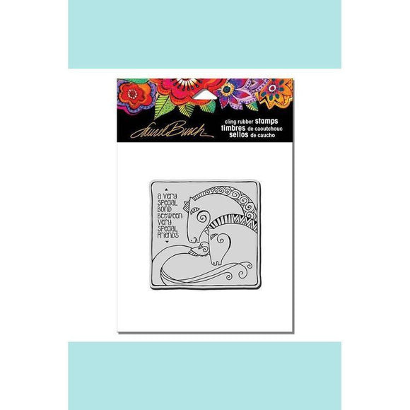 Stampendous  Laurel Burch Cling Aquatic Horses Stamp