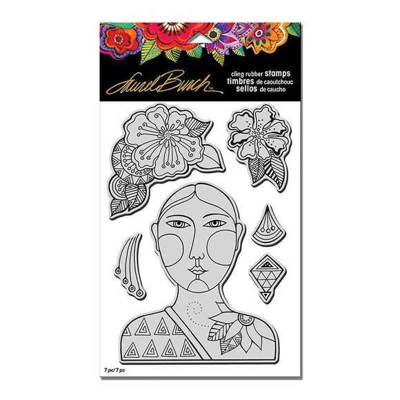 Stampendous - Laurel Burch Cling Blossoming Woman Stamp
