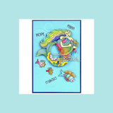 Stampendous -  Laurel Burch Mermaid Fish Stamp & Die Bundle