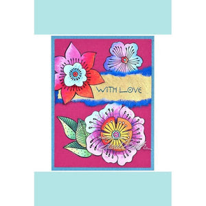 Stampendous - Laurel Burch Cling Blossoms Stamp Set