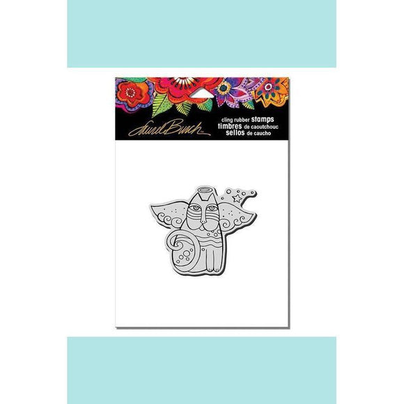 Stampendous - Laurel Burch Cat Angel Rubber Stamp