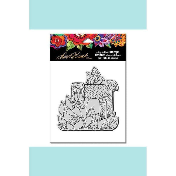 Stampendous - Laurel Burch Lion With Bird Rubber Stamp