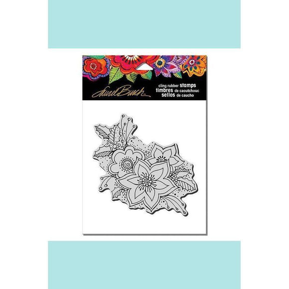 Stampendous - Laurel Burch Festive Flora Rubber Stamp