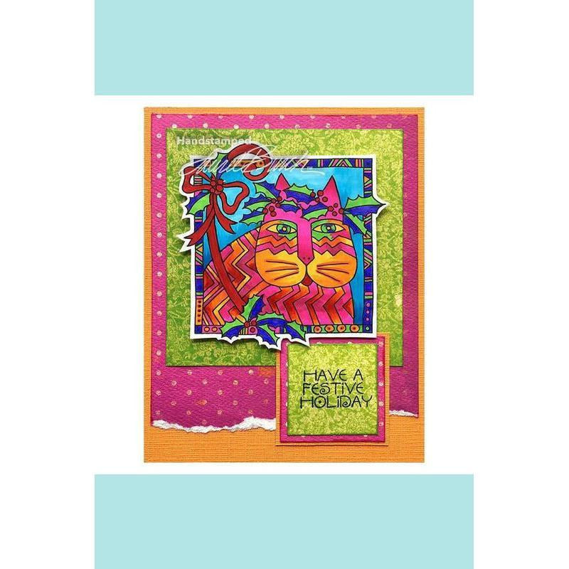 Stampendous - Laurel Burch Holly Cat Rubber Stamp