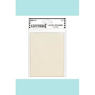 Letter It Cardstock 4.25x5.5 - Ivory (12 Pack)