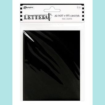 Ranger - Letter It Black Cardstock 4.25