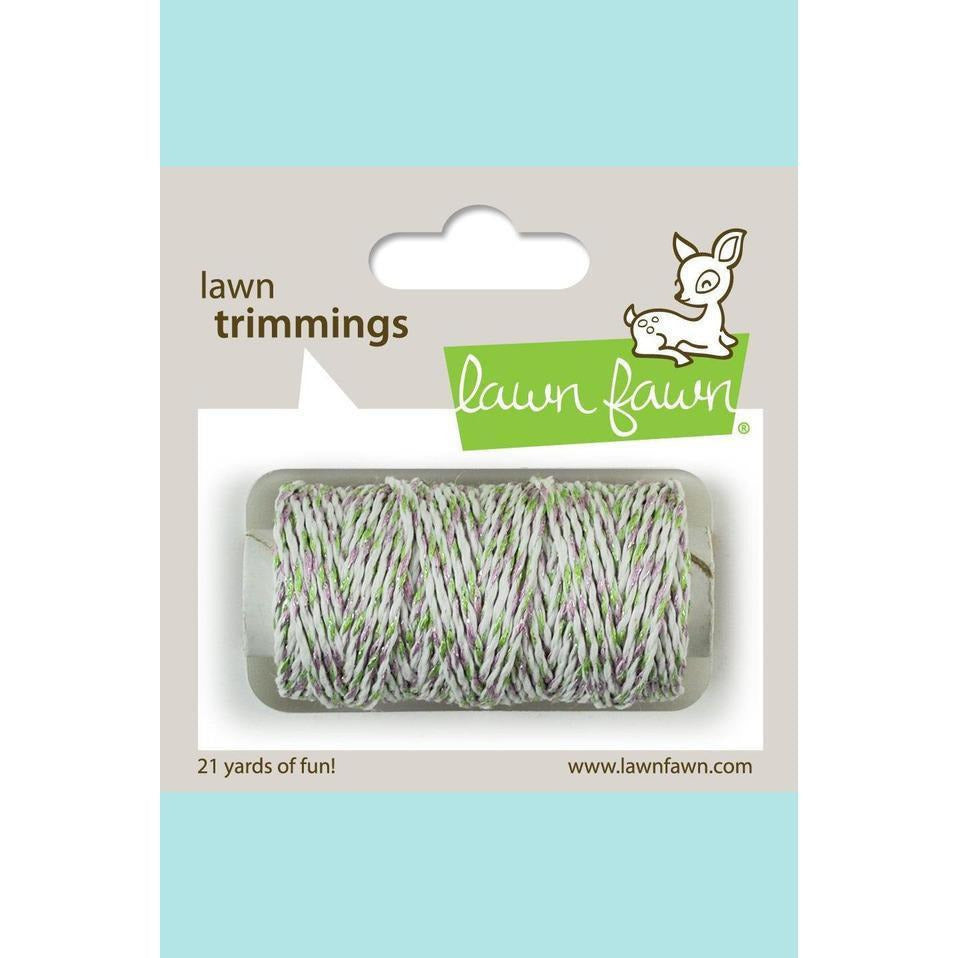 Lawn Fawn Trimmings -  Hemp Cord - green and lavender