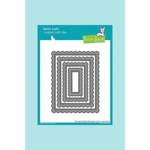 Lawn Fawn Cuts Stitched Scalloped Rectangle Frames Die