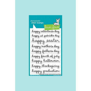 Lawn Fawn - Celebration Scripty Sentiments Stamp