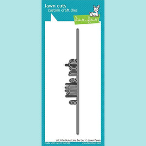 Lawn Fawn -  A Little Note Line Border