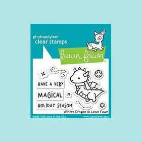 Lawn Fawn - Winter Dragon - Stamp Sets