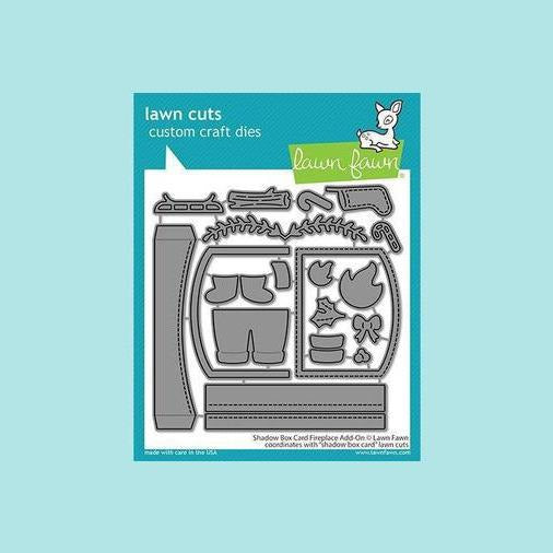 Lawn Fawn - Shadow Box Card Fireplace Add-On - Lawn Cuts