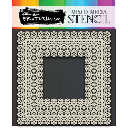 Brutus Monroe - Mixed Media Stencil - Lace Trim