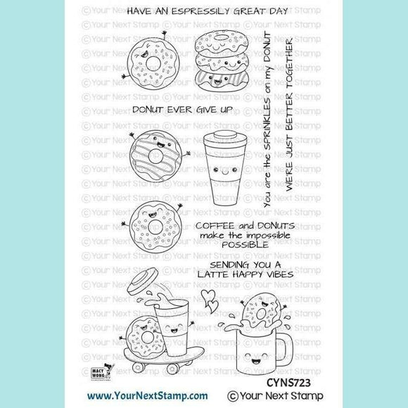 Your Next Stamp - YNS - Latte Happy Vibes Stamps and Dies