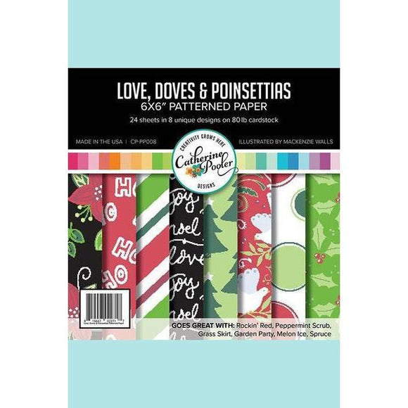 Catherine Pooler Love, Doves, & Poinsettias Patterned Paper
