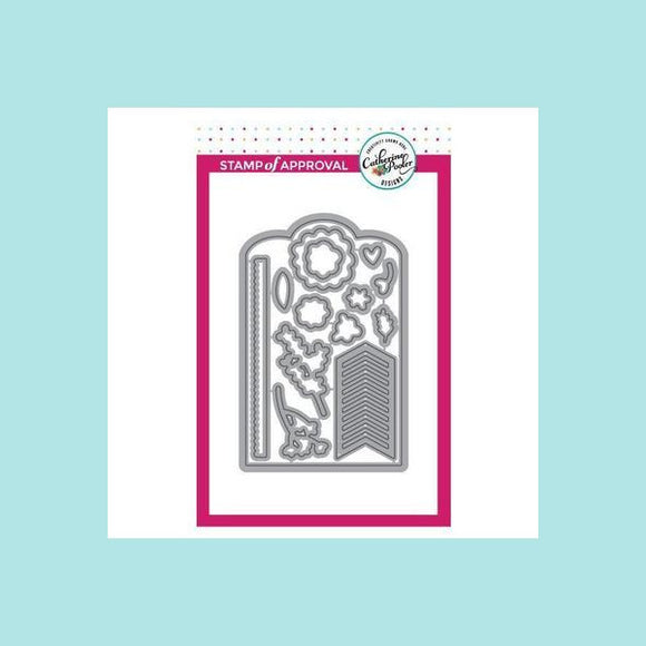 Catherine Pooler Lovely Flowers and Banner Stamp and Die