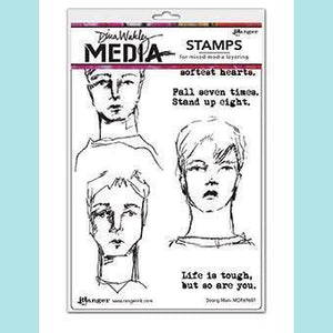 Ranger - Dina Wakley Media Stamp - Strong Men