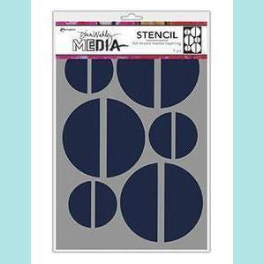 Dina Wakley Media Stencils Large Halves