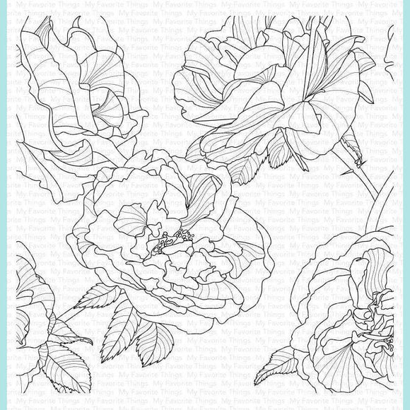 My Favorite Things - Fanciful Roses Background Stamp