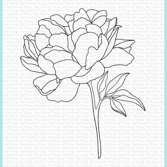 My Favorite Things - Peony Perfection Stamp