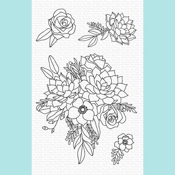 My Favorite Things - Fantasy Florals WS Stamps and Die-namics