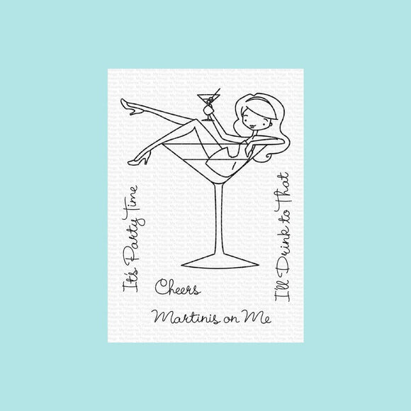 My Favorite Things - ALM Martinis on Me Stamp and Die