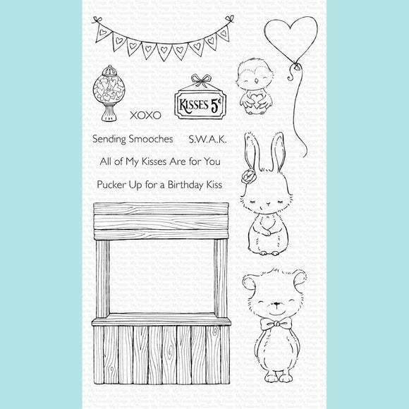 My Favorite Things - Kissing Booth Stamp