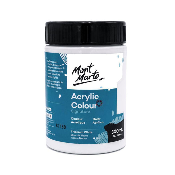 MM Acrylic Colour Paint 300ml Titanium White