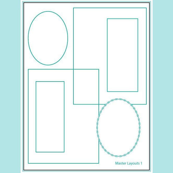 Gina K Designs – Master Layouts 1 Die Set