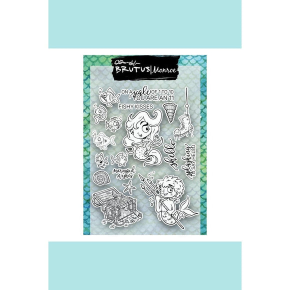 BRUTUS MONROE MERMAID LAGOON STAMP Set - MERMAID