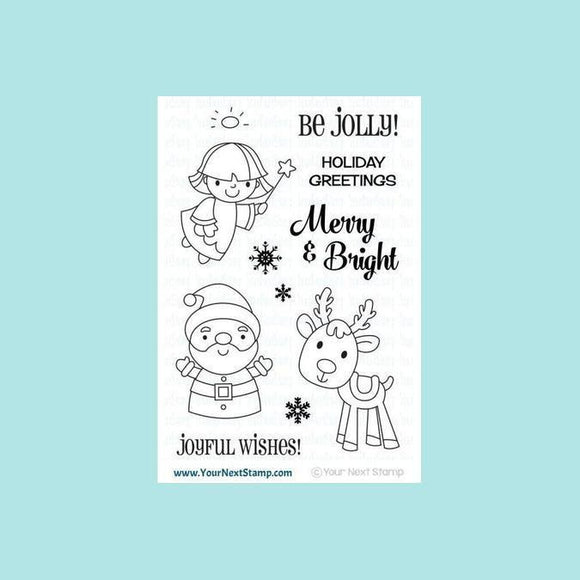 Your Next Stamp Merry and Bright Stamp & Die