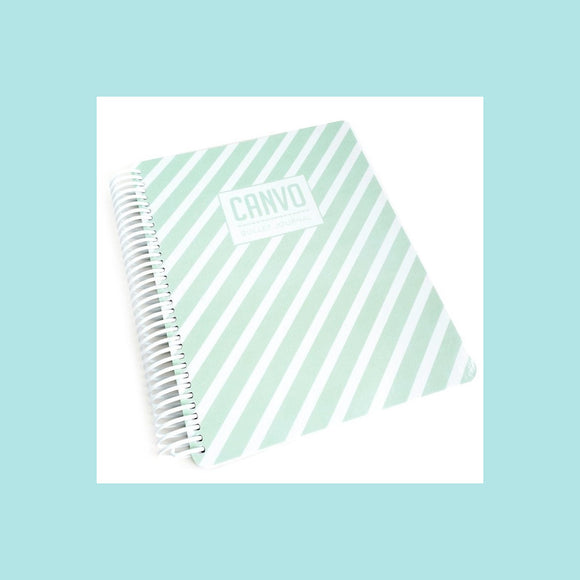 Catherine Pooler - Mint Stripe Canvo Journal