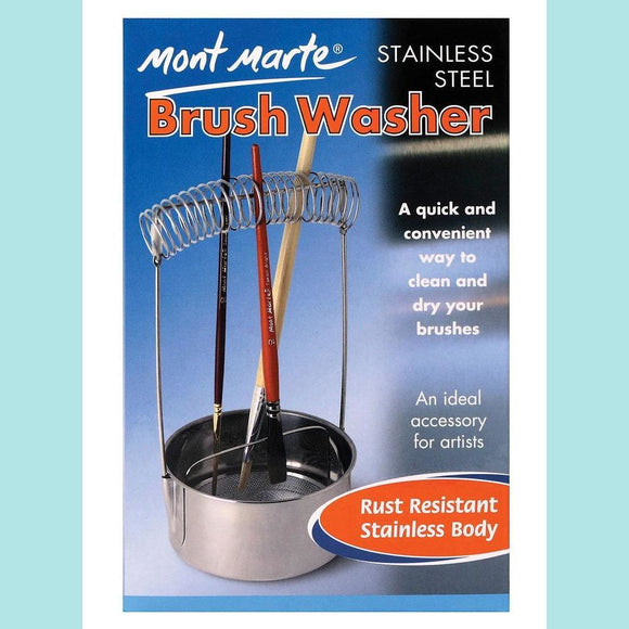 Mont Marte - Brush Washer Stainless Steel