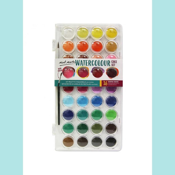 Mont Marte - Discovery Watercolour Cake Set 38 Piece