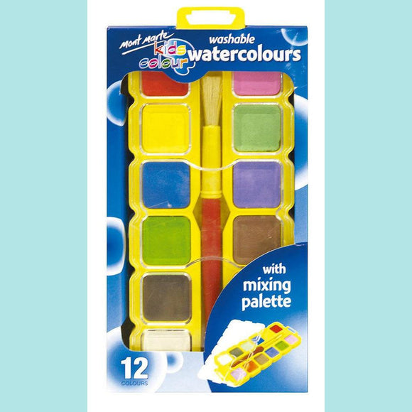 Mont Marte - Kids Colour Watercolour Block Set 14pce