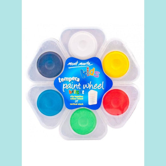 Mont Marte - Kids Tempera Paint Wheel - Bright